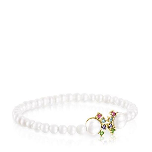 Oferta de Pulsera de perlas y oro con gemas Real Sisy por 255€
