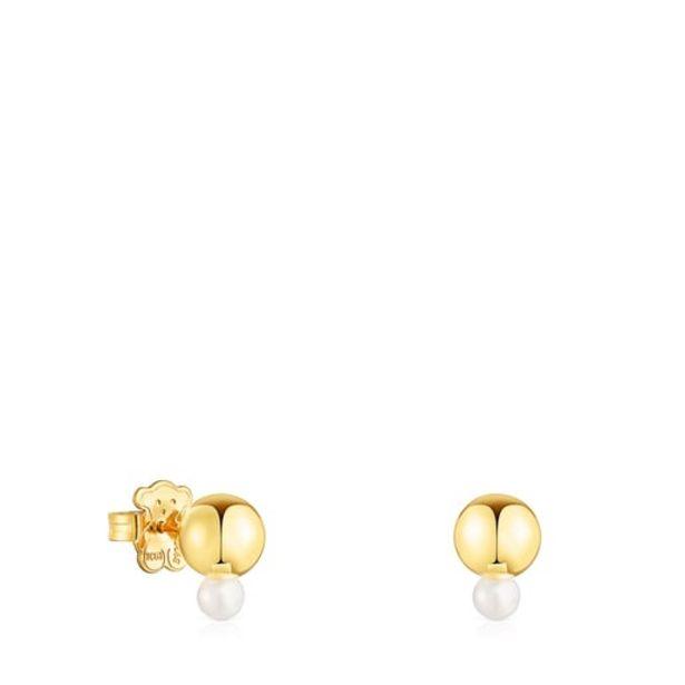 Oferta de Pendientes Gloss de plata vermeil y perla pequeña por 90€
