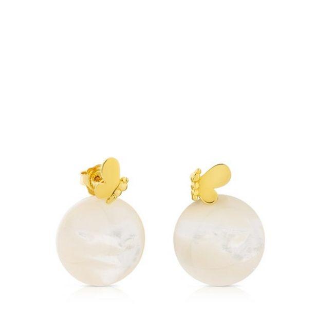 Oferta de Pendientes mariposa de oro con nácar Bera por 227€