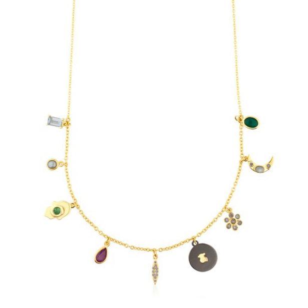 Oferta de Collar de oro con gemas y diamantes Gem Power por 475€