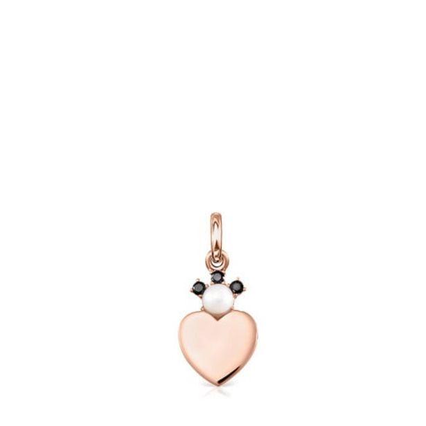 Oferta de Colgante de plata vermeil rosa con espinelas y perla Real Sisy por 41€