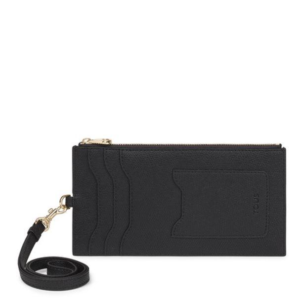 Oferta de Tarjetero colgante TOUS Essential negro por 41€