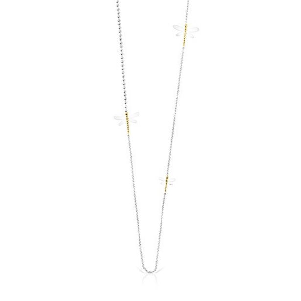 Oferta de Collar largo de plata y plata vermeil Real Mix Bera por 90€
