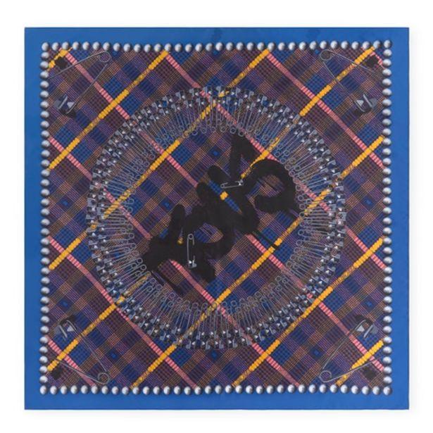 Oferta de Pañuelo Tile Exene negro y azul por 24€