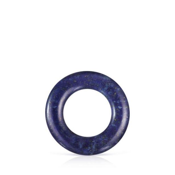 Oferta de Anilla grande de lapislázuli y plata Hold Gems por 24€