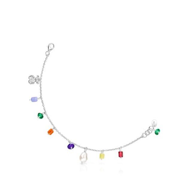 Oferta de Pulsera oso de plata, perla y glass multicolor Oceaan por 80€