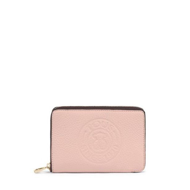 Oferta de Billetera pequeña New Leissa de piel rosa claro por 44€