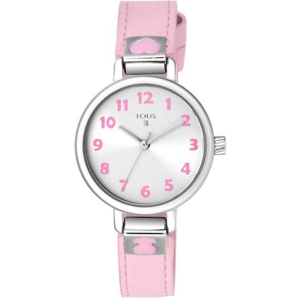 Oferta de Reloj Dream de acero con correa de piel rosa por 59€