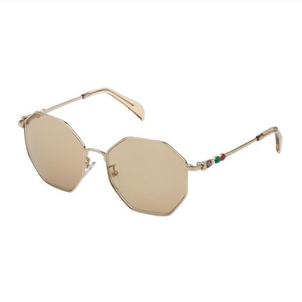 Oferta de Gafas de sol Jolie Seventies de Metal en color camel por 89€