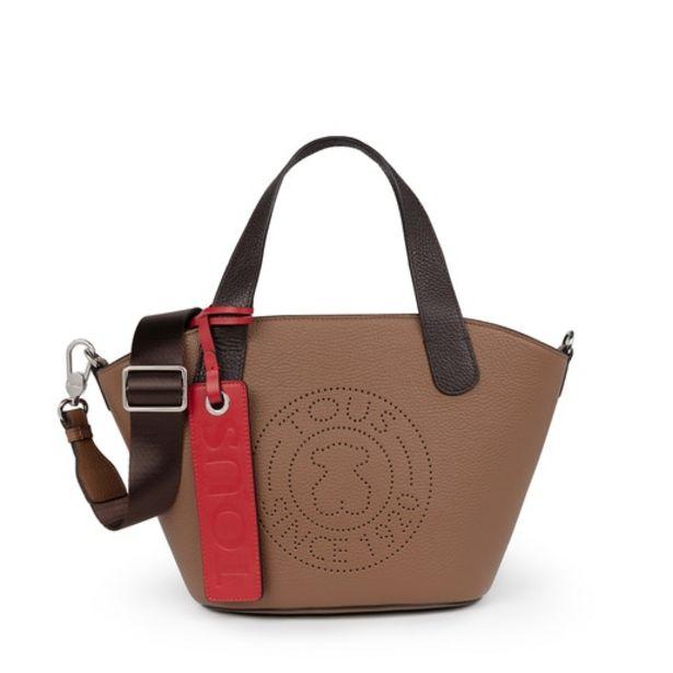 Oferta de Bolso shopping pequeño Leissa de Piel en color marrón por 132€
