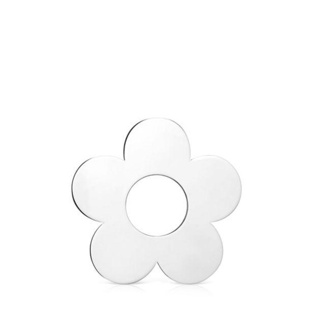 Oferta de Colgante grande flor de plata Hold Metal por 24€