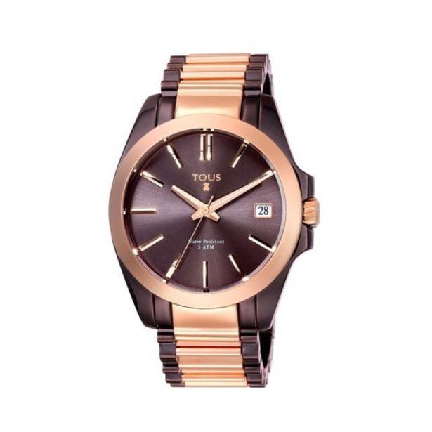 Oferta de Reloj Drive Combi bicolor de acero IP rosado/chocolate por 179€