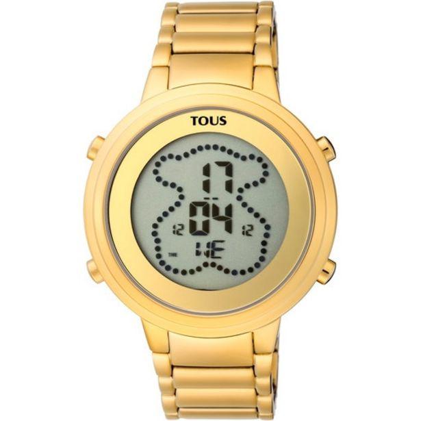 Oferta de Reloj digital Digibear de acero IP dorado por 118€