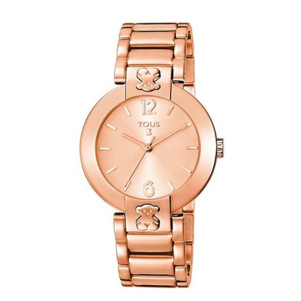 Oferta de Reloj Plate Round de acero IP rosado por 117€