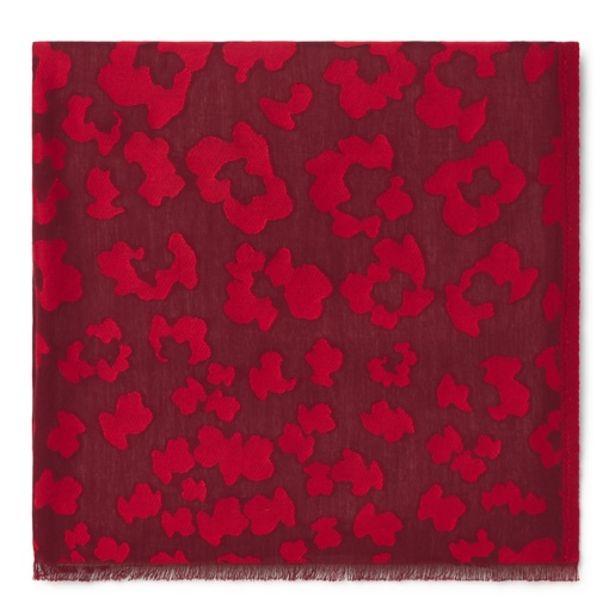 Oferta de Foulard Granate Leo jacquard rojo por 41€