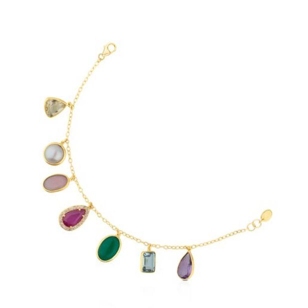 Oferta de Pulsera de oro con gemas y diamantes Gem Power por 497€