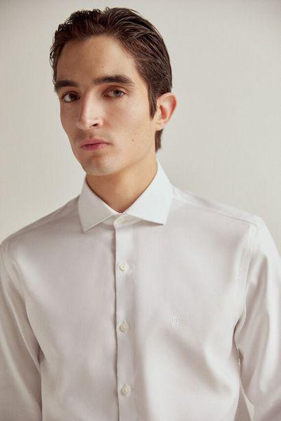 Oferta de Camisa de vestir estructura slim non-iron por 19,99€