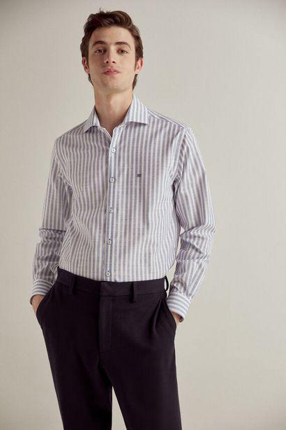 Oferta de Camisa de vestir rayas non-iron por 19,99€