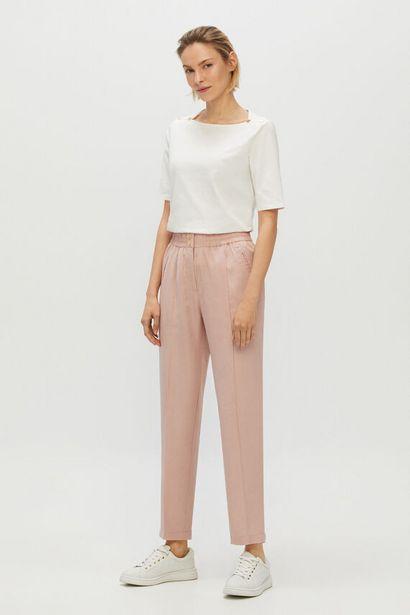 Oferta de Pantalón de tencel corte slim por 14,99€