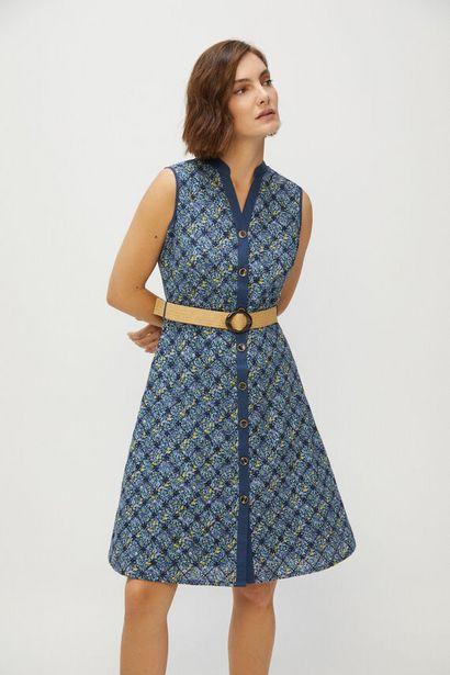Oferta de Vestido bordado sin mangas por 29,99€