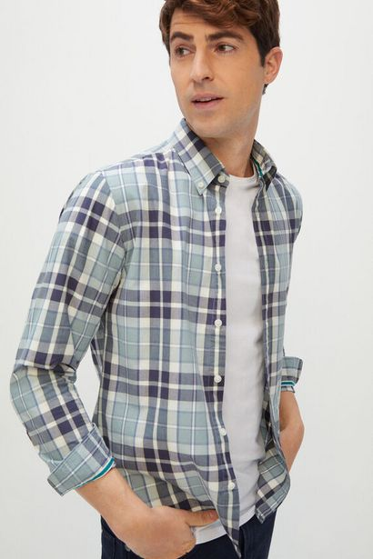 Oferta de Camisa cuadros popelín por 9,99€