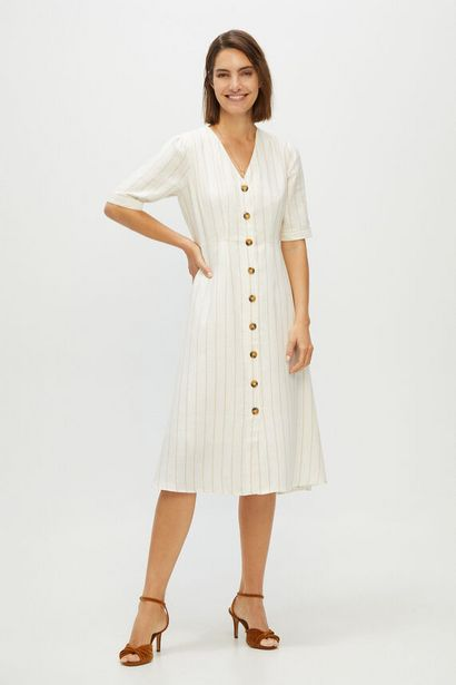 Oferta de Vestido pico rayas por 24,99€