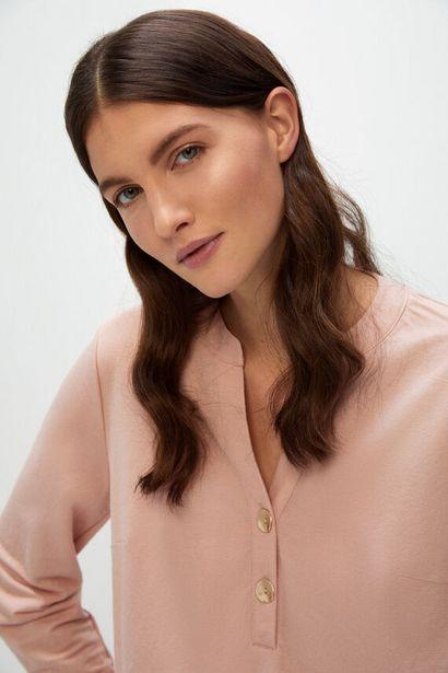 Oferta de Blusa confort manga larga por 9,99€