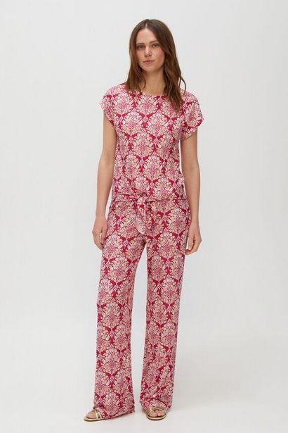 Oferta de Pantalón en tejido de punto efecto plisado por 15,99€