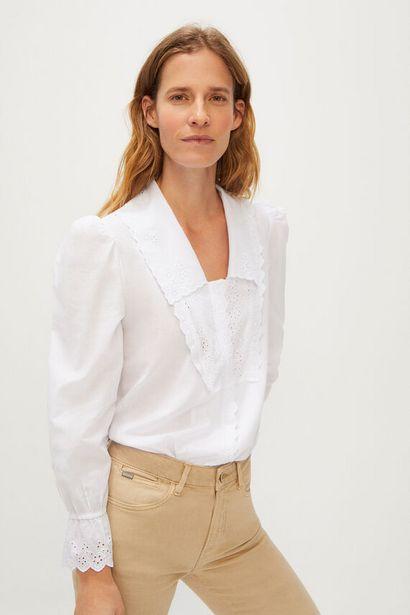 Oferta de Camisa cuello solapa en pico por 9,99€