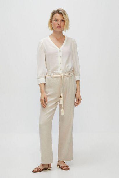Oferta de Pantalón casual de lino por 14,99€