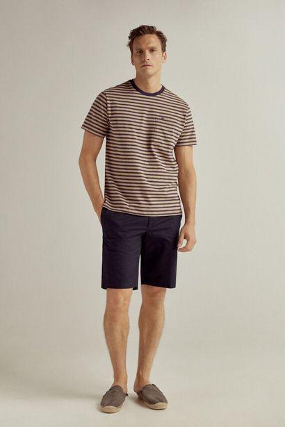 Oferta de Bermuda tejido ligero y cintura lateral elástica por 19,99€