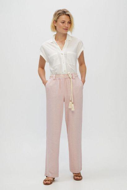 Oferta de Pantalón casual de lino por 24,99€