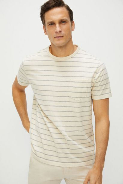 Oferta de Camiseta rayas manga corta por 9,99€