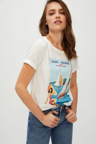 Oferta de Camiseta Ecofriendly estampado postal por 5,99€