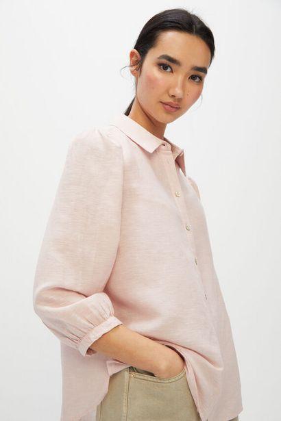 Oferta de Camisa manga larga de lino Ecofriendly por 11,99€