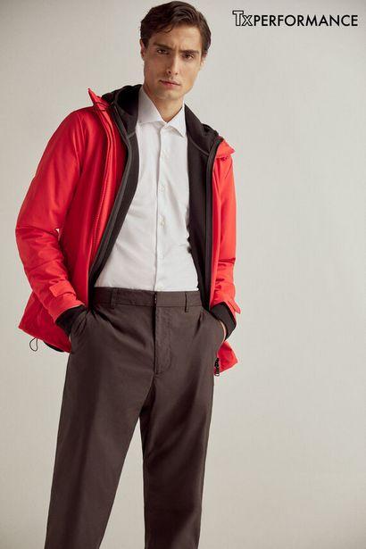 Oferta de Camisa de vestir lisa slim tejido técnico por 19,99€