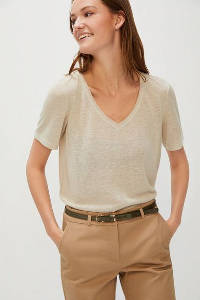 Oferta de Camiseta efecto lino pico por 9,99€