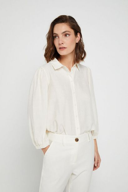 Oferta de Camisa topos metálicos por 14,99€