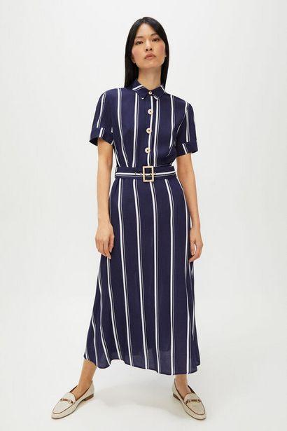 Oferta de Vestido camisero rayas por 19,99€