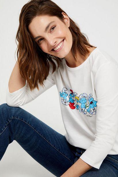 Oferta de Camiseta estampado Los pitufos algodón orgánico por 5,99€