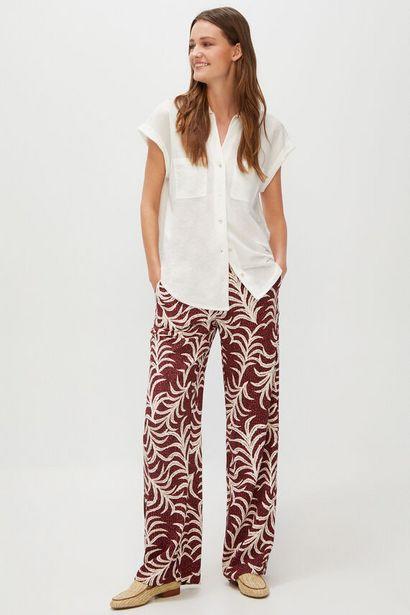 Oferta de Pantalón ancho estampado por 14,99€