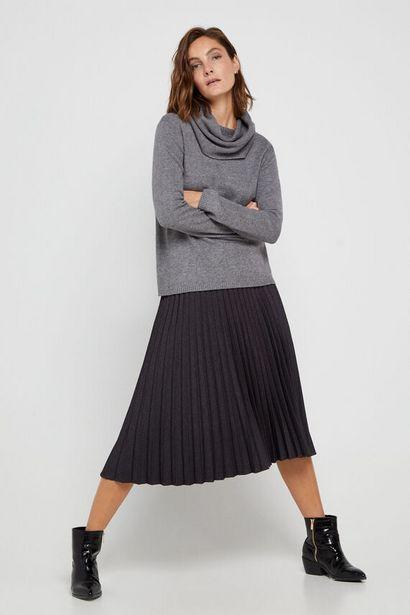 Oferta de Falda midi plisada por 17,99€