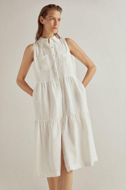 Oferta de Vestido camisero lino por 39€