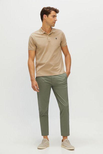 Oferta de Pantalón cintura elástica extra confort Tapered por 14,99€
