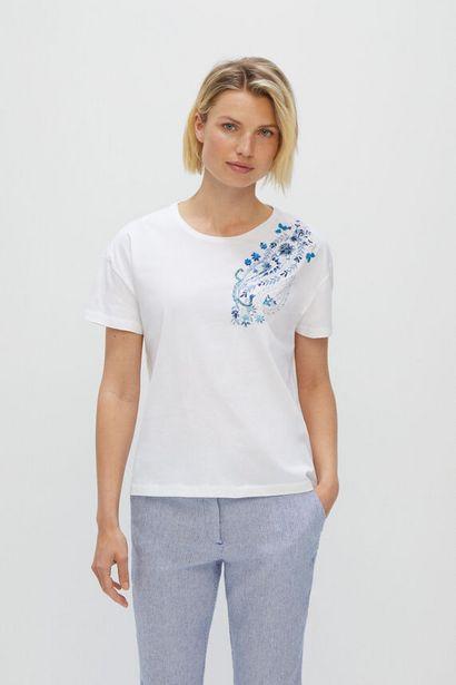 Oferta de Camiseta bordado paisley por 5,99€