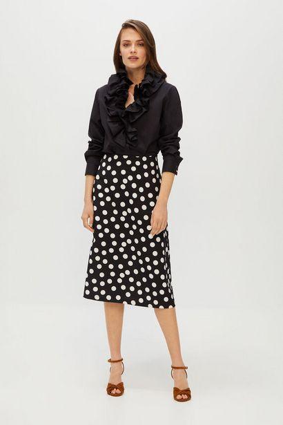 Oferta de Falda midi de lunares por 14,99€