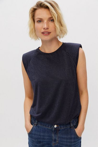 Oferta de Camiseta hombreras lurex por 5,99€