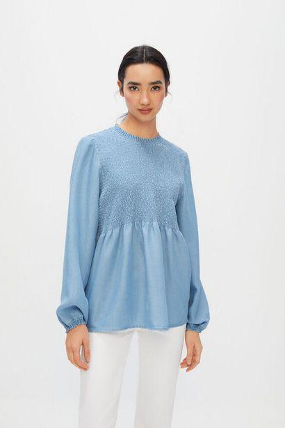 Oferta de Camisa Lyocell Ecofriendly bordado nido de abeja por 9,99€