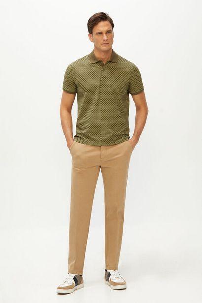 Oferta de Pantalón cintura elástica estructura slim fit por 14,99€