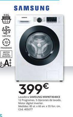 Oferta de Lavadoras Samsung por 399€